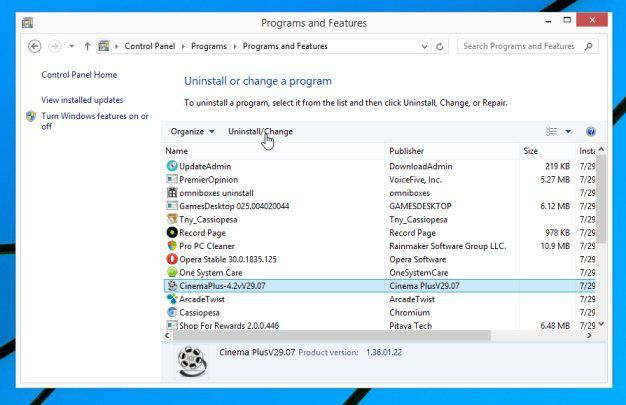 remove infectious program in Windows 10